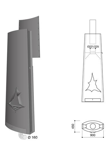 Schéma de la cheminée Design Magnifocus