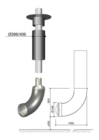 Schéma de la cheminée Design Renzofocus