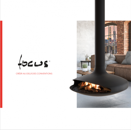 FocusKamine DominiqueImbert Gyrofocus Focus50 MadeinFrance Design Architektur Interior Outdoor Advent Vorfreude Zen kamin freihängend zeutral Holzofen Ofen