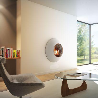 Wand Designkamine Lensfocus gas