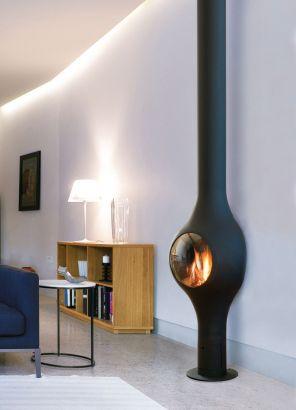 cheminée design Boafocus mural gaz
