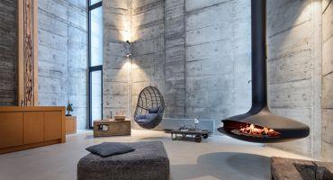 cheminée contemporaine design centrale suspendue poëles architecte