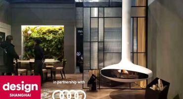 focus création cheminée contemporaine poêle design moderne architecture décoration centrale suspendue gaz poële architecte conception salon architecte intérieur dominique imbert