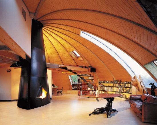 cheminée design Eclaté central