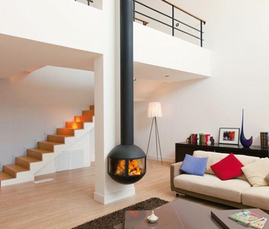 cheminee design Edofocus 631. Poele à bois design vitré