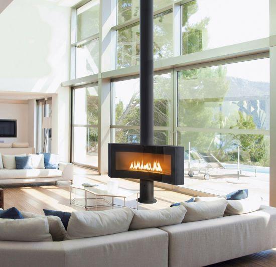 Moderne kamin fen focus - Poele design contemporain ...